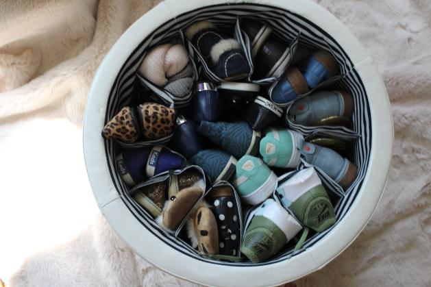 shoe ottoman - open